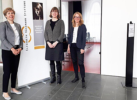 "Auf Einladung der Elisabeth-Käsemann-Stiftung sprach Dr. Kathryn Libal (Director of the Human Rights Institute of the University of Connecticut) zum Thema ""HUMAN RIGHTS WORK IN THE UNITED STATES DURING THE TRUMP ERA"""